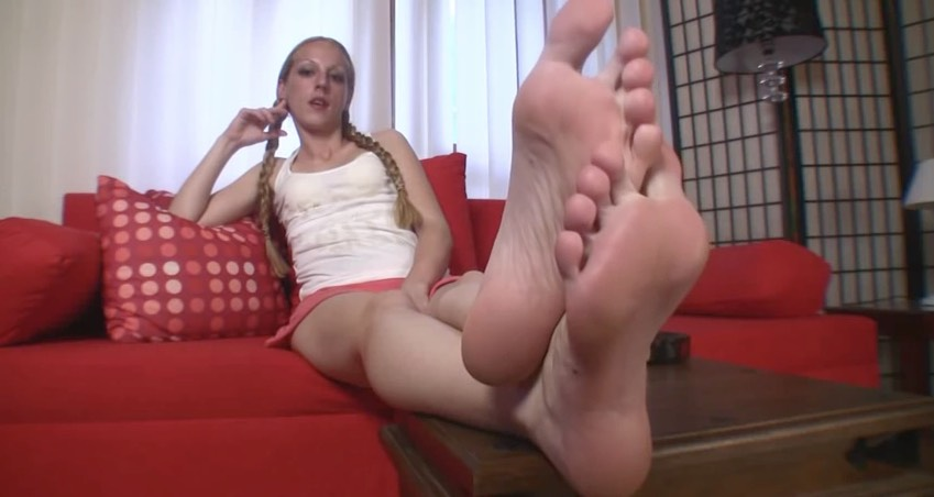 Blonde Coed Feet, POV