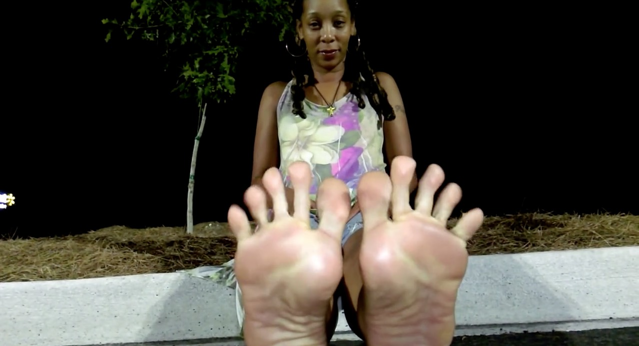 Beautiful Feet on Black Woman
