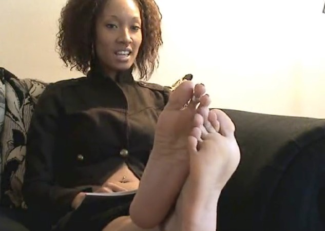 Ebony Foot Posing