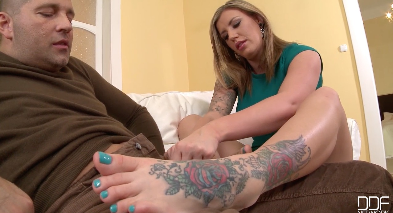 Hot, Sweaty Footjob