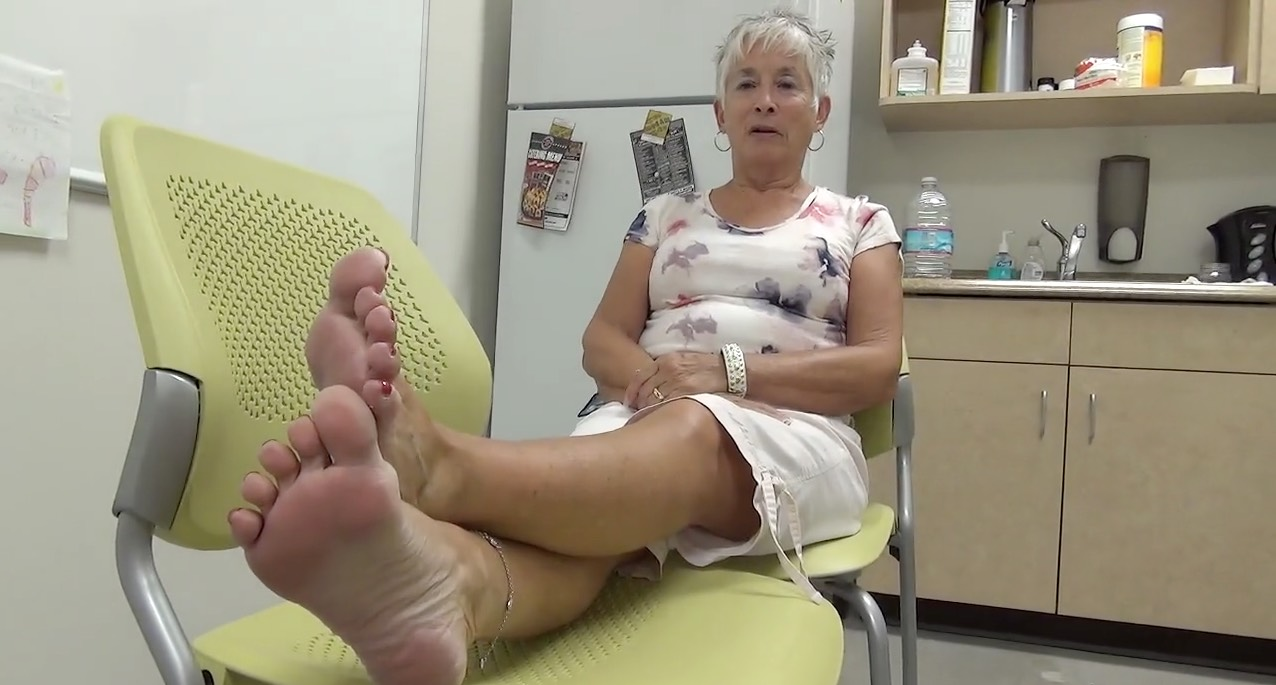 Beautiful Mature Feet with Wide Toenail Beds