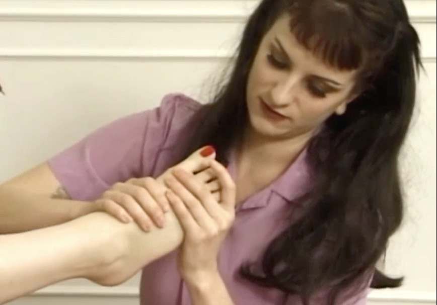 Girl on Girl Foot Rubbing