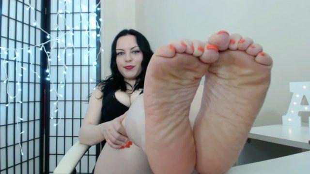 cute chubby foot tease