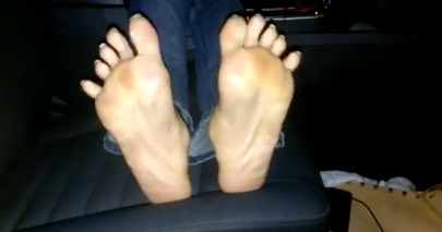 Long Toenails with French Pedicure