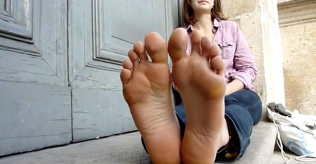 """On the Street"" Foot Tease in France"