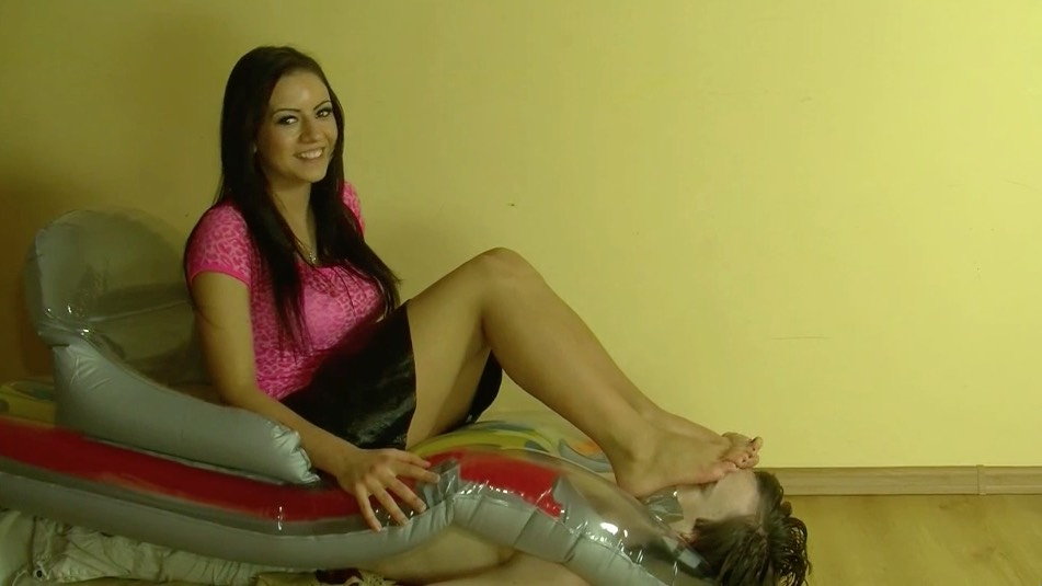 Slavic Cutie Smothers with her Stinky Feet